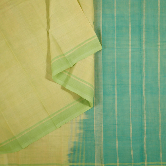 Gandhigram Handwoven Khadi Cotton Muslin Saree - 1415215GRE