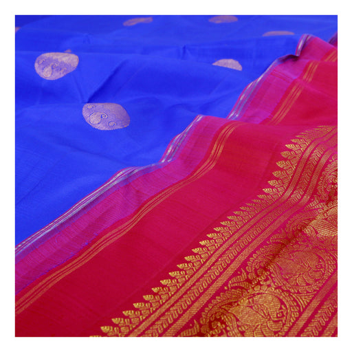 (THE IMPERFECTS) Sarangi Handwoven Kanjivaram Silk Sari - 390129938