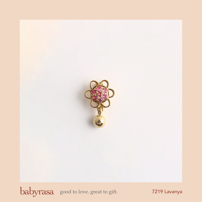 The Babyrasa Lavanya Gold and Pink Sapphire Pendant by Rasvihar 42_7219