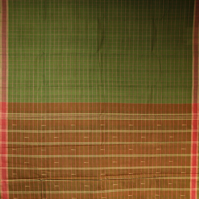 Gandhigram Handwoven Khadi Cotton Muslin Saree - 1415185GRE