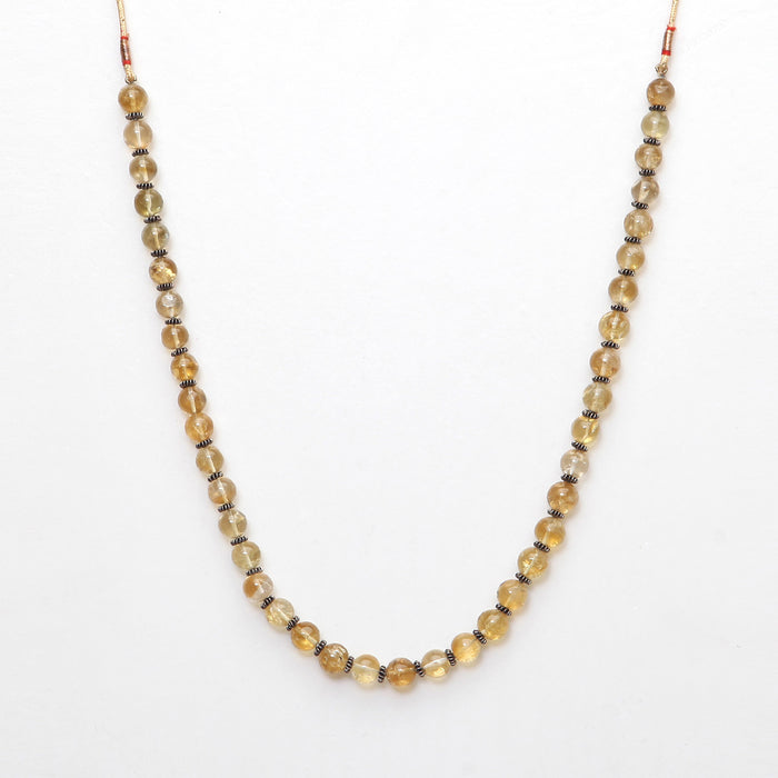 Arunadri Citrine and Silver Necklace by Banswari BJM013