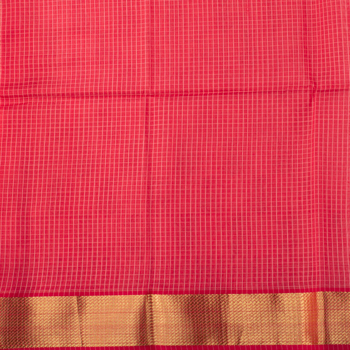 Sarangi Handwoven Maheshwari Silk-Cotton Saree - 1405596PIN