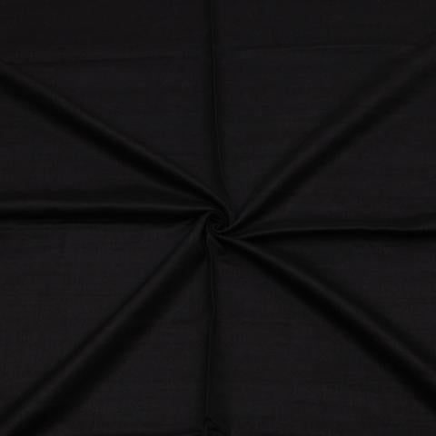 Handwoven Tussar Silk Fabric in Luminous Black Y-2/16484