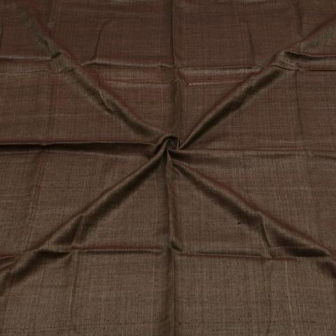 Handwoven Tussar Jute Fabric in Chocolate Brown Y-60/16563