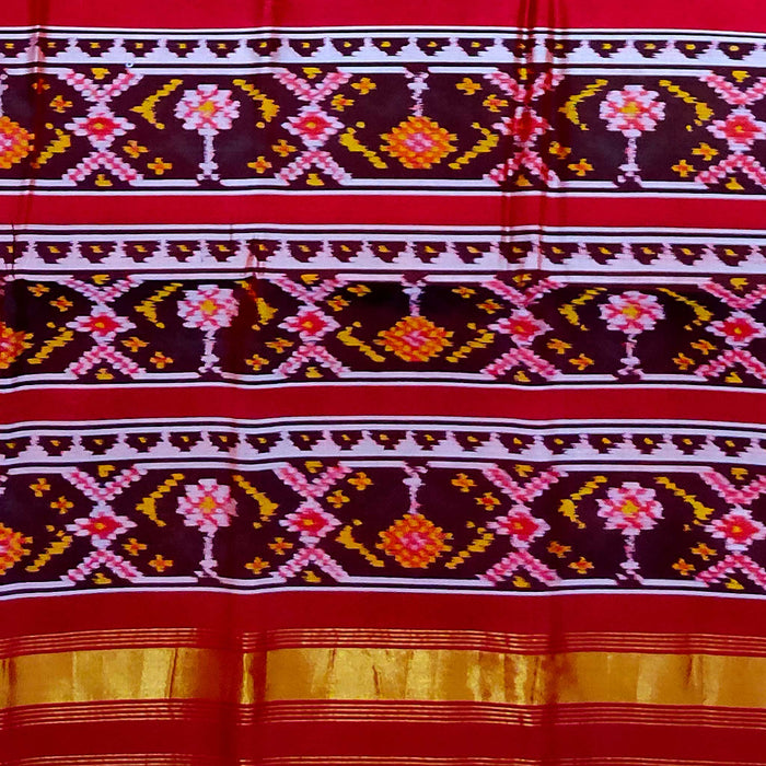 Handwoven Patola Silk Saree - cs5/070703/1100018