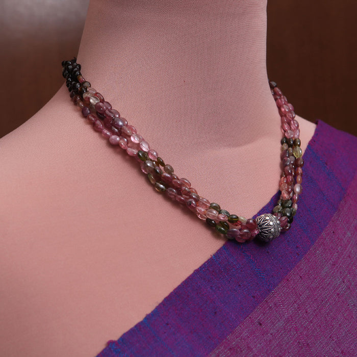 Kalavanti Tourmaline and Silver Necklace by Banswari BJM045