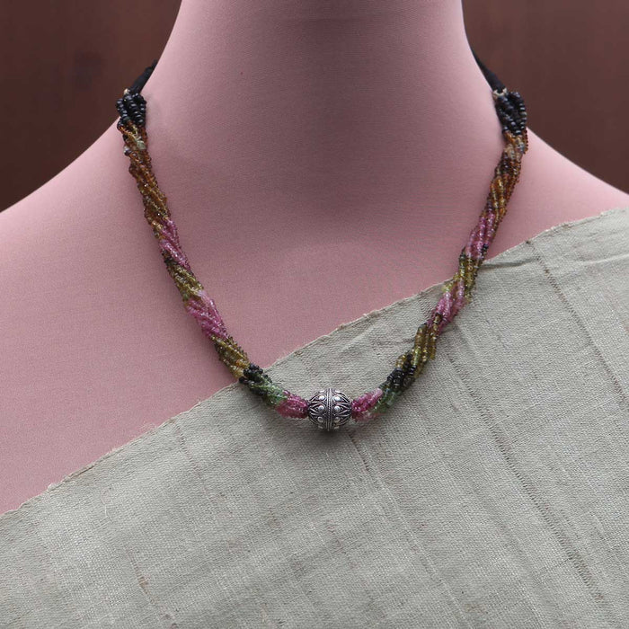 Kayamitra Tourmaline and Silver Necklace by Banswari BJM046