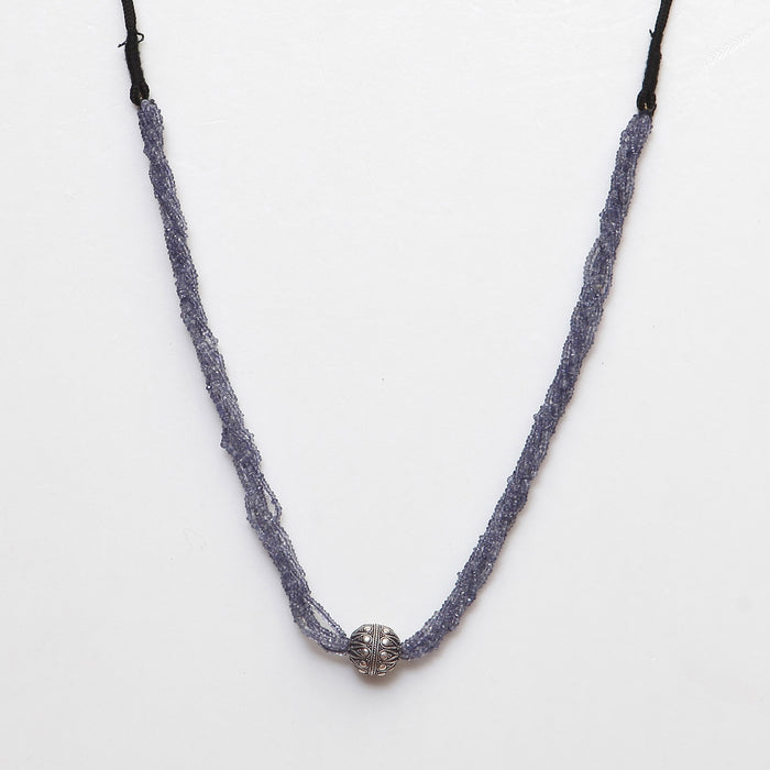 Rekhavati Iolite and Silver Necklace by Banswari BJM035