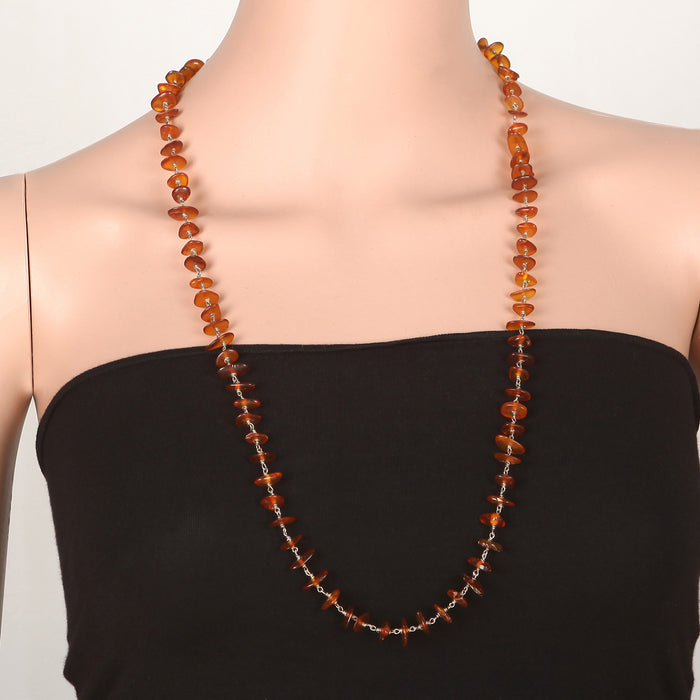 Rosamitra Amber Necklace by Banswari BJM159