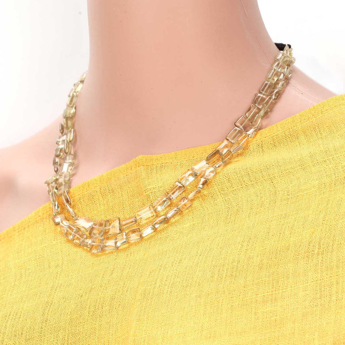 Rupavalli Citrine Necklace by Banswari BJM105