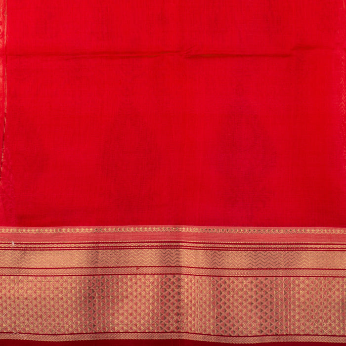 Sarangi Handwoven Maheshwari Silk-Cotton Saree - 1405603PIN