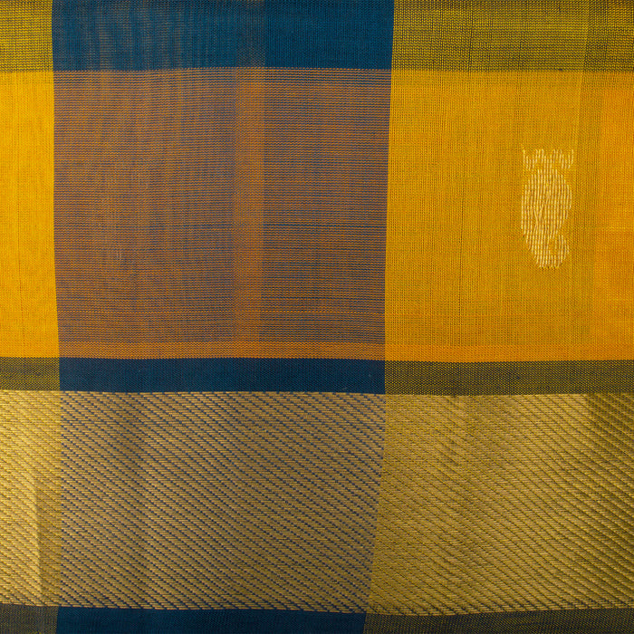 Sarangi Handwoven Kanjivaram Silk-Cotton Saree - 1555667MUL