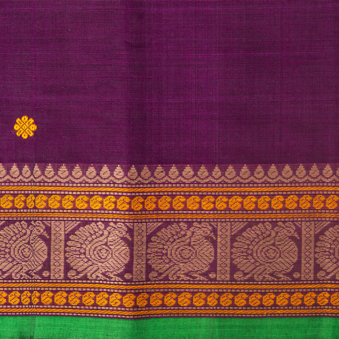 Sarangi Handwoven Kanchi Cotton Saree - 1575732PUR