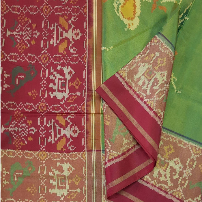 Handwoven Patola Silk Saree - cs2/061813/950012