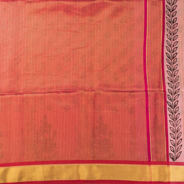 Sarangi Handwoven Maheshwari Silk-Cotton Saree - 1405611PIN