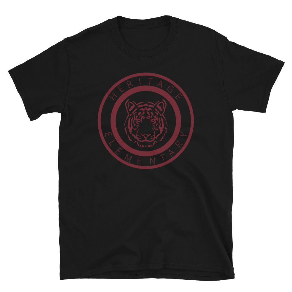 Black Circle Tiger Short-Sleeve Unisex T-Shirt