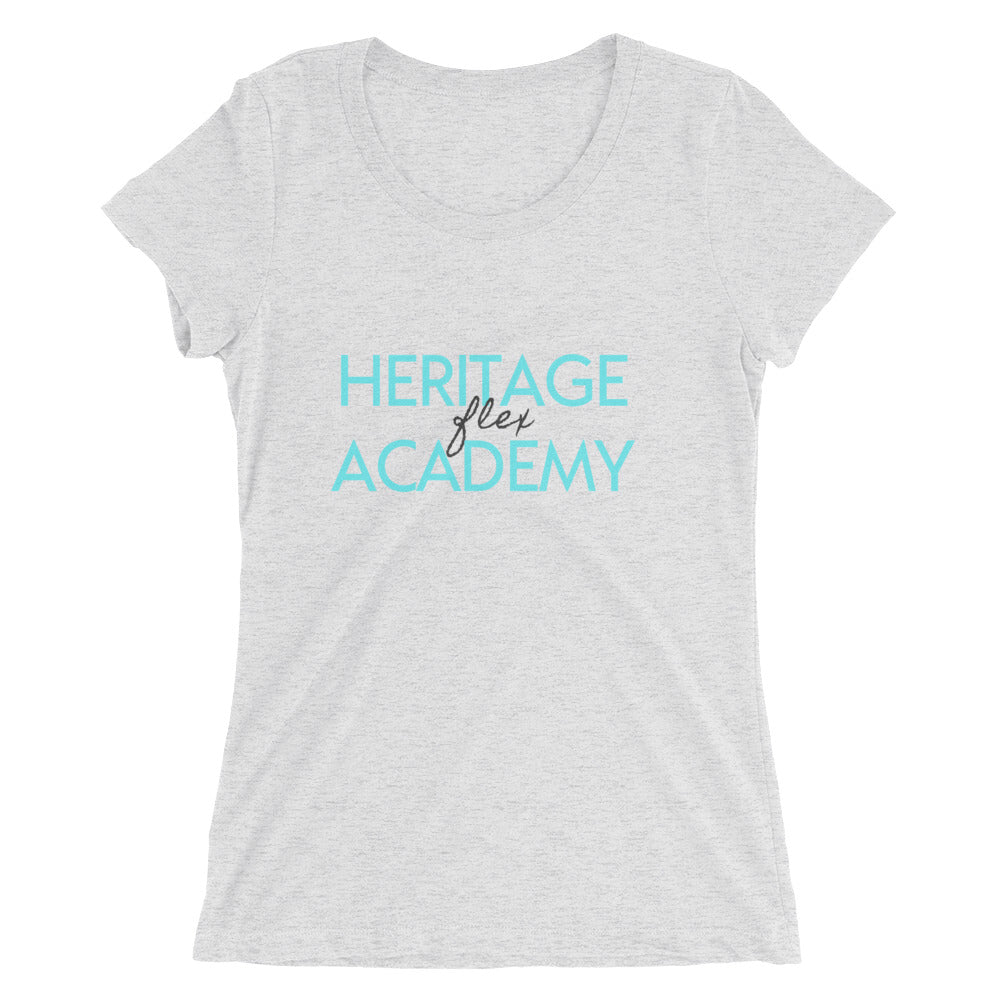 Heritage Flex Ladies' short sleeve t-shirt in Blue