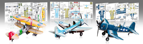 The Advanced Pack Paper Airplane Model Kit - Huntly's Paper Warplanes - 1