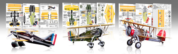 The Intermediate Pack Paper Airplane Model Kit - Huntly's Paper Warplanes - 1