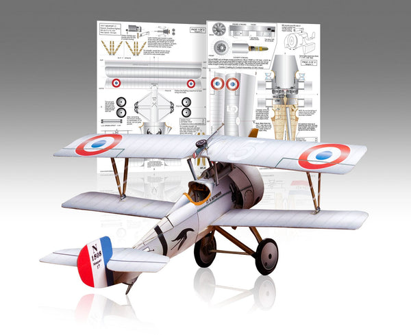 Nieuport 17 Paper Airplane Model Kit - Huntly's Paper Warplanes - 1