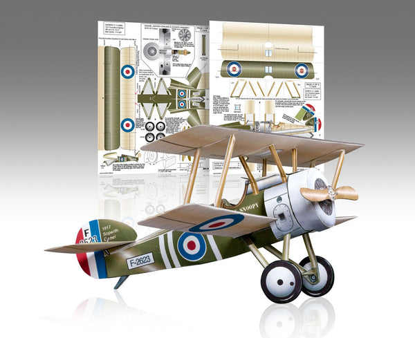 Sopwith F-1 Camel Paper Airplane Model Kit - Huntly's Paper Warplanes - 1