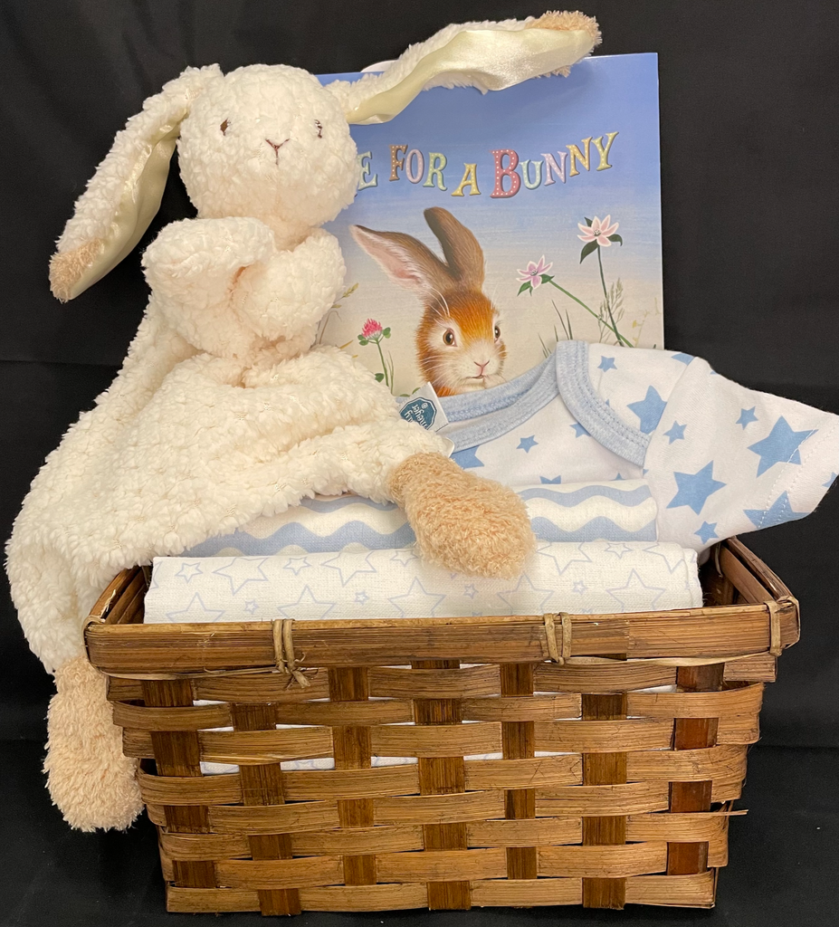 Some Bunny Loves Me Basket in Blue