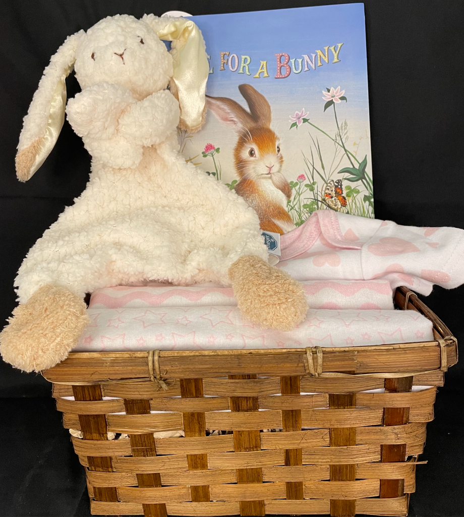 Some Bunny Loves Me Basket in Pink