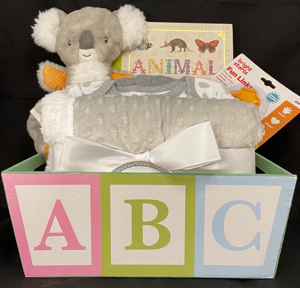 Down Under Gift Basket in Neutral Grey