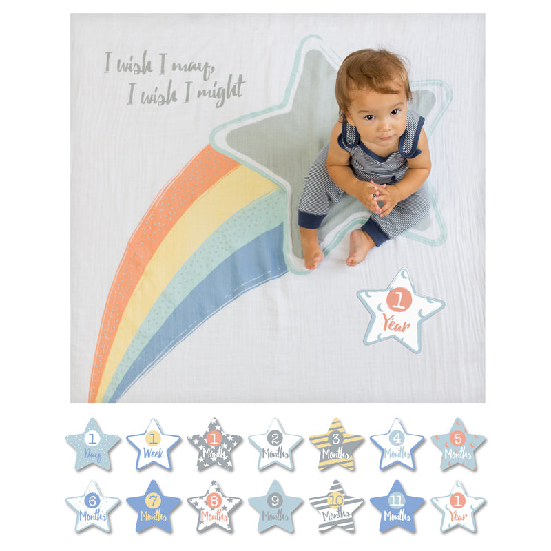 I Wish I May Milestone Blanket Set