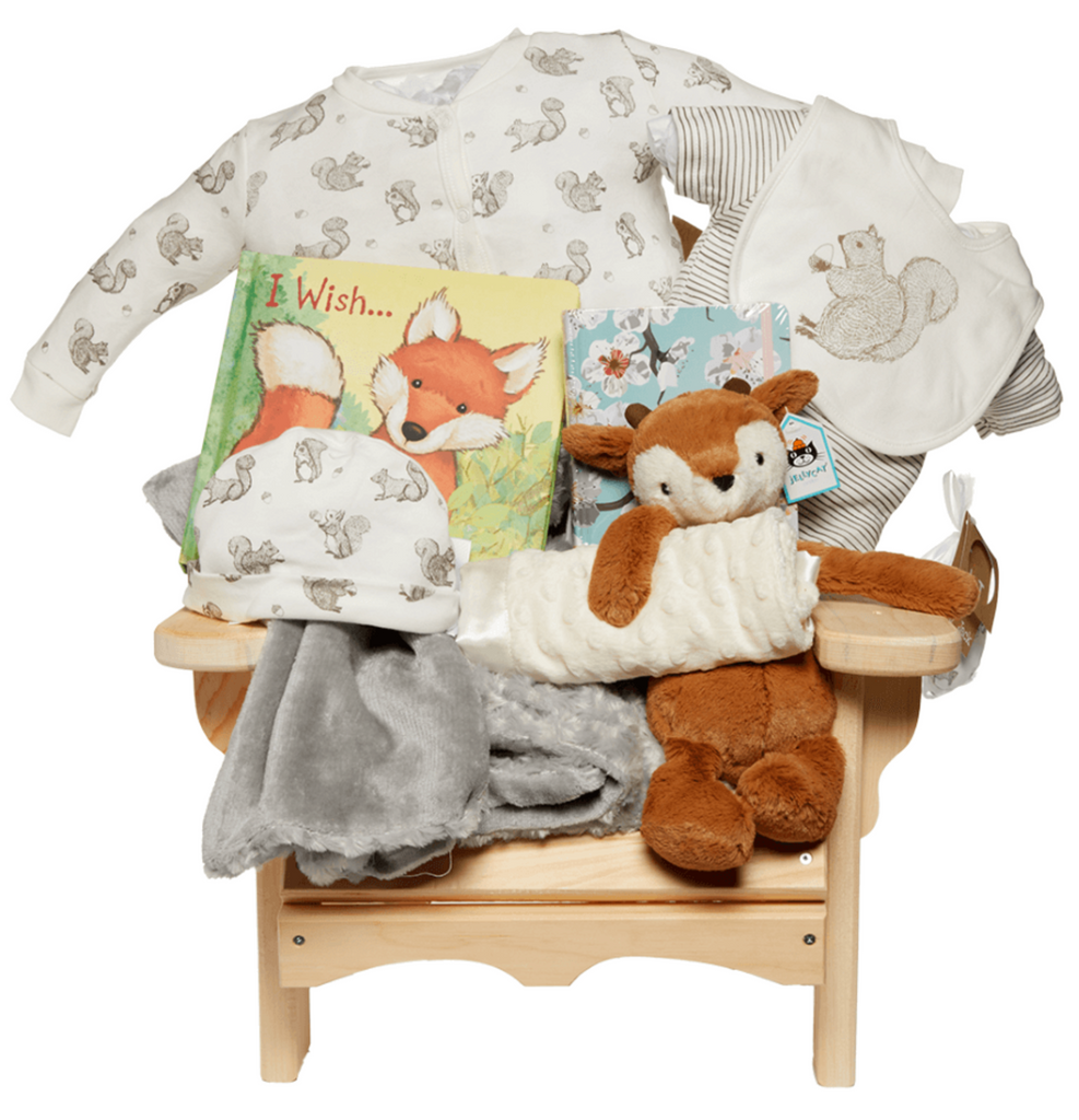 Muskoka Chair Gift Set with Plush Fawn