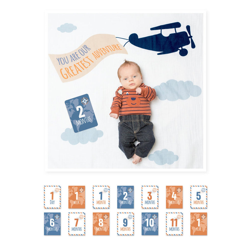 Our Greatest Adventure Milestone Blanket Set
