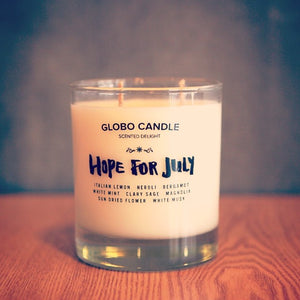 "Scented Candle ""Hope For July"""