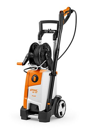 Stihl RE 130 Plus Cold Water Pressure Washer With Integral Hose Reel & FREE Surface Cleaner