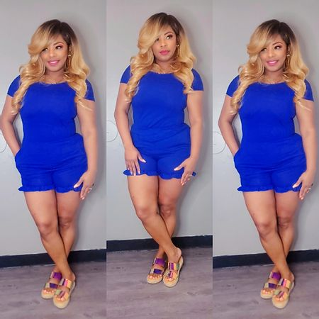 Cute & Comfy Royal Blue Romper