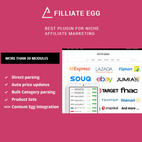 Affiliate Egg – Niche Affiliate Marketing WordPress Plugin