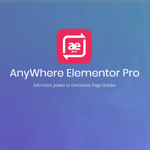 AnyWhere Elementor Pro WordPress Plugin