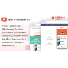 Apex Notification Bar – Responsive Notification Bar Plugin for WordPress