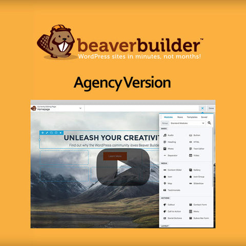 Beaver Builder Plugin – Agency Version