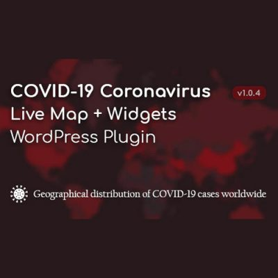 COVID-19 Coronavirus – Live Map & Widgets for WordPress