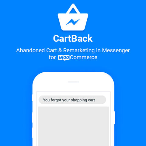 CartBack – WooCommerce Abandoned Cart & Remarketing in Facebook Messenger