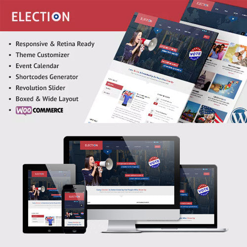 Election – Political WordPress Theme