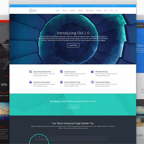 Elegant Themes Divi WordPress Theme Layouts