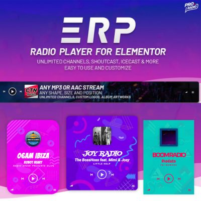 Erplayer – Radio Player for Elementor
