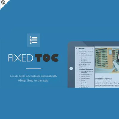 Fixed TOC – table of contents for WordPress plugin