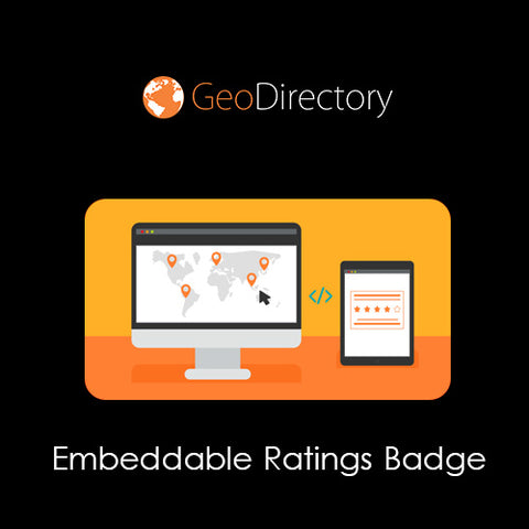 GeoDirectory Embeddable Ratings Badge