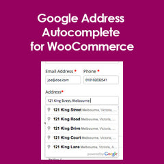Google Address Autocomplete for WooCommerce