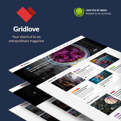 Gridlove – Creative Grid Style News & Magazine WordPress Theme