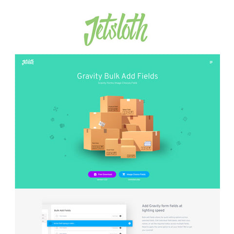 Jetsloth – Gravity Forms Bulk Add Fields