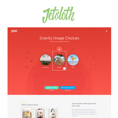 Jetsloth – Gravity Forms Image Choices