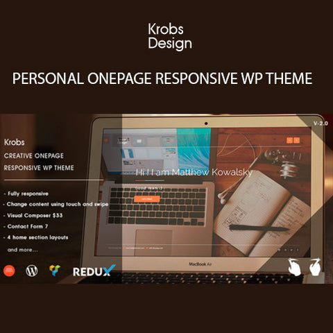 Krobs – Personal Onepage Responsive WP Theme